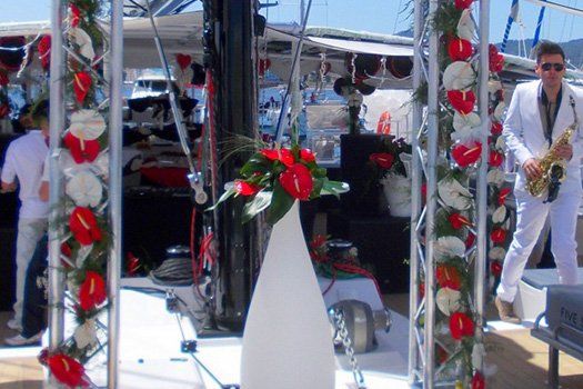 Personalized boat decoration Ibiza