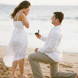 A marriage prposal on the beach, Ibiza