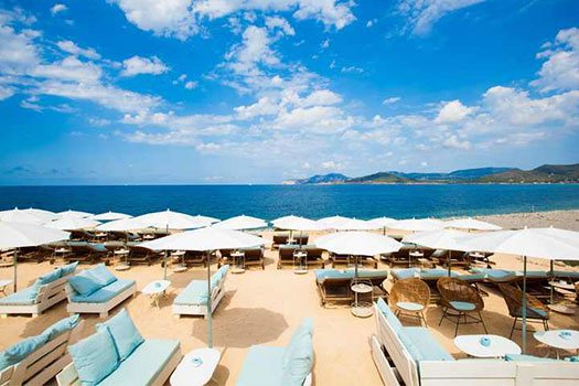 Beach sea front location service, event management Ibiza