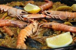 Wedding catering service Ibiza, paella seafood